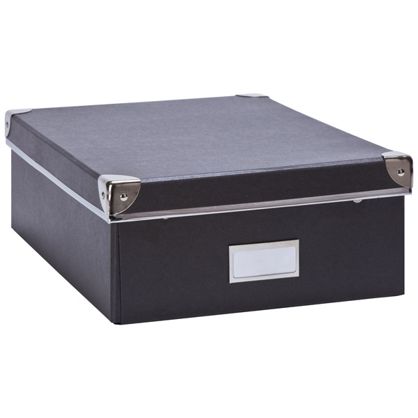 Bigso Snap-Up Record Storage Box Graphite