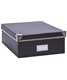 Bigso™ Snap-Up Record Storage Box Graphite