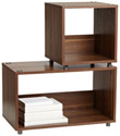 Walnut Vario Stacking Shelves