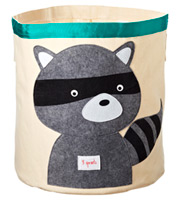 Raccoon Canvas Bin
