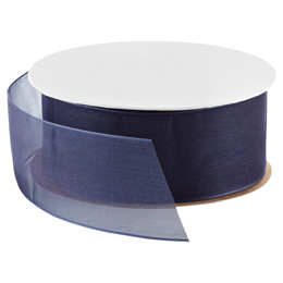 Navy Blue Sheer Ribbon