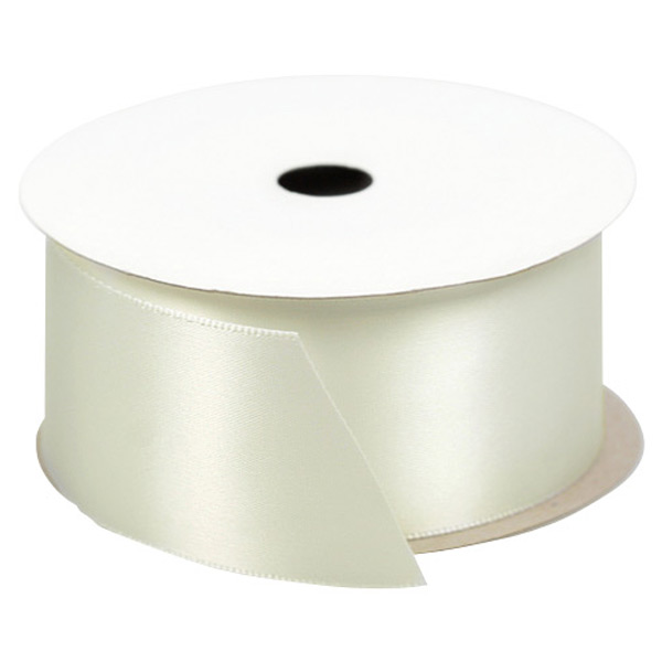 Double-Faced Satin Ribbon Antiqued White