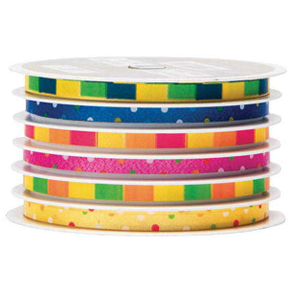 Bright Ribbon Stripes Multi-Channel Curling Ribbon