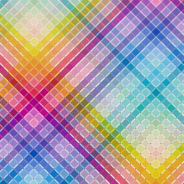 Rainbow Squares Wrap Multi