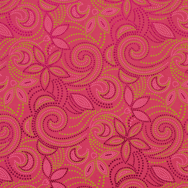 Recycled Wrap Sheets Dot Floral Pink Pkg/2