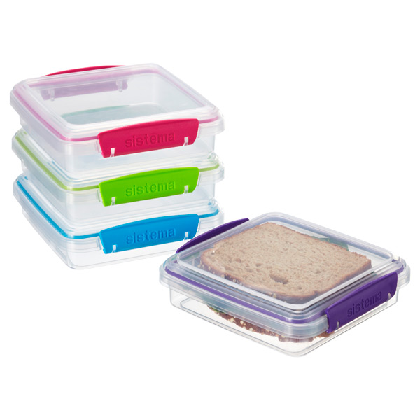Colorful Klip-It® Sandwich Box