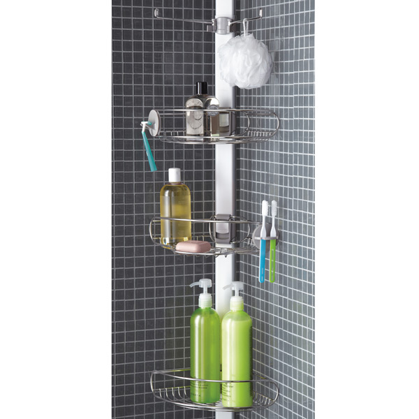 simplehuman® Stainless Steel Tension Pole Shower Caddy