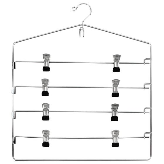Chrome 4-Tier Swing-Arm Skirt Hanger