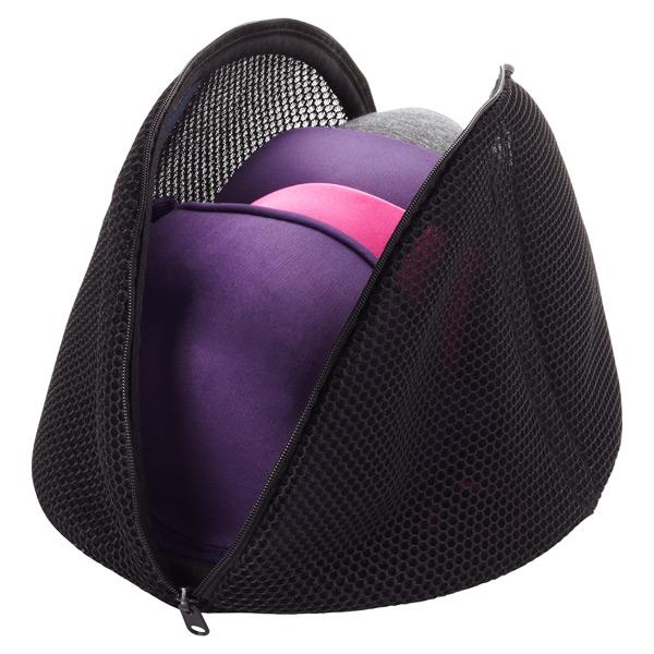 Large Micro Mesh Bra Wash Bag Black