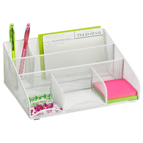 Mesh Desk Station White
