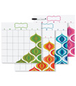 Bargello Wave Dry Erase Calendar Set