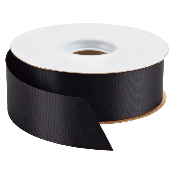 Bulk Satin Ribbon Black