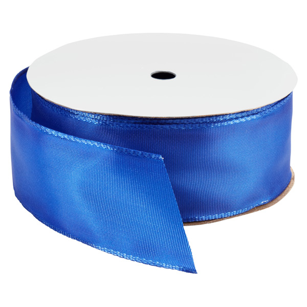 Bright Royal Blue Wired Ribbon