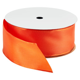 Bright Orange Wired Ribbon