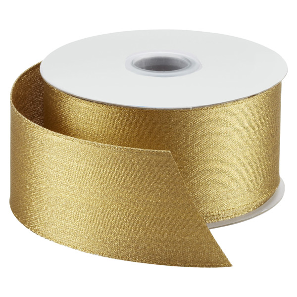 Gold Satin Wired Ribbon