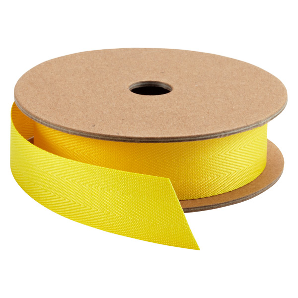 Lemon Herringbone Ribbon