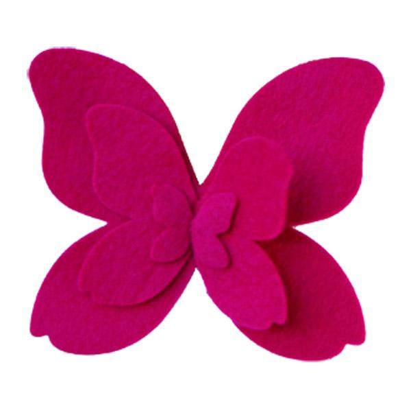 Felt Butterfly Tie-On Fuchsia