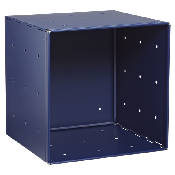 Blue Enameled QBO Steel Cube