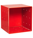 Red Enameled QBO&reg; Steel Cube