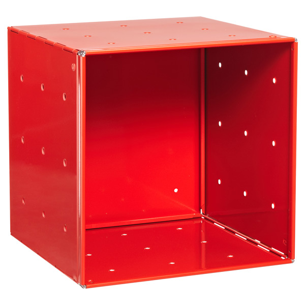 QBO Steel Cube Enameled Red