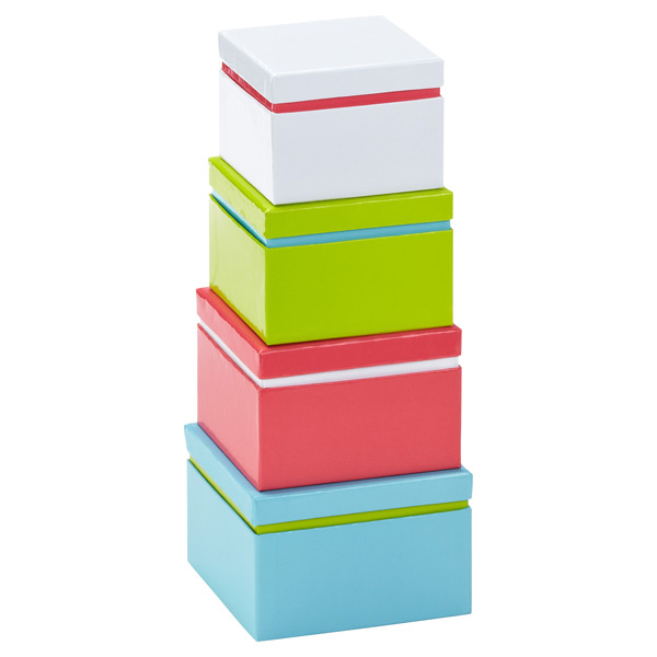 Linea Solid Nested Boxes Set of 4