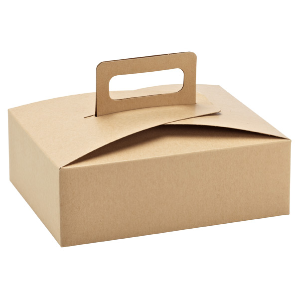 Treat Box w/ Handle Natural