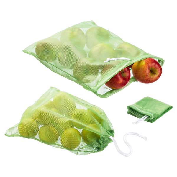 Reusable Produce Bags Green Pkg/3