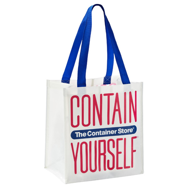 Small Contain Yourself Reusable Bag White