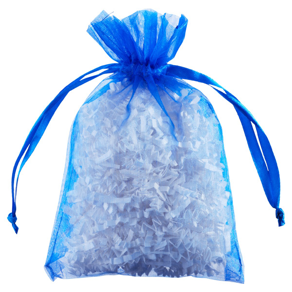 Organza Sacks Blue Pkg/6