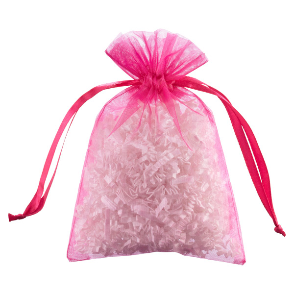 Organza Sacks Hot Pink Pkg/6