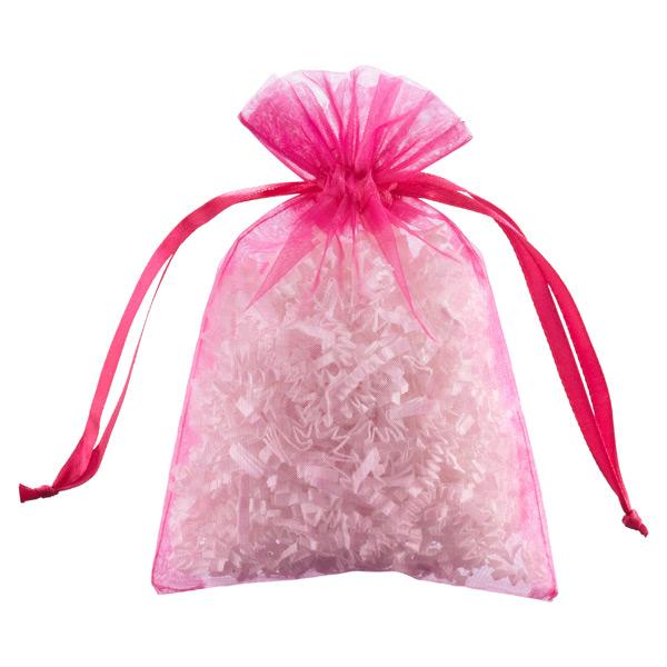 Organza Sacks Hot Pink Pkg/6