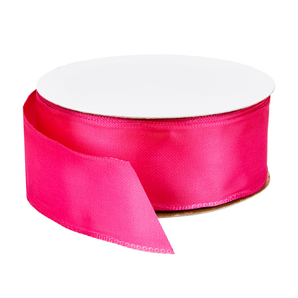 Bright Pink Wired Ribbon
