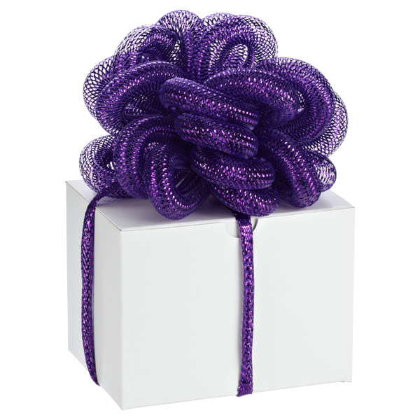 Metallic Stretchy Ribbon Purple