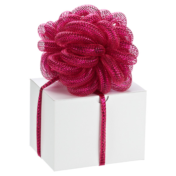 Metallic Stretchy Ribbon Fuchsia