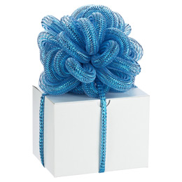 Metallic Turquoise Stretchy Ribbon