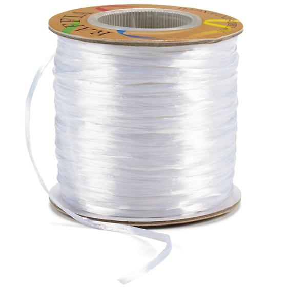 White Pearl Raffia Ribbon
