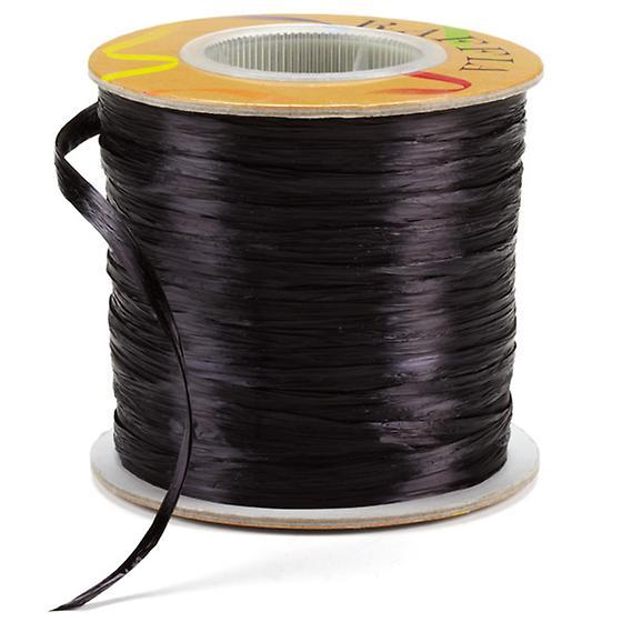 Black Pearl Raffia Ribbon