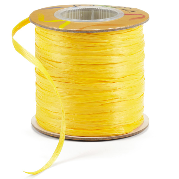 Yellow Matte Raffia Ribbon