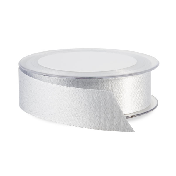 Silver Glitter Double Satin Ribbon