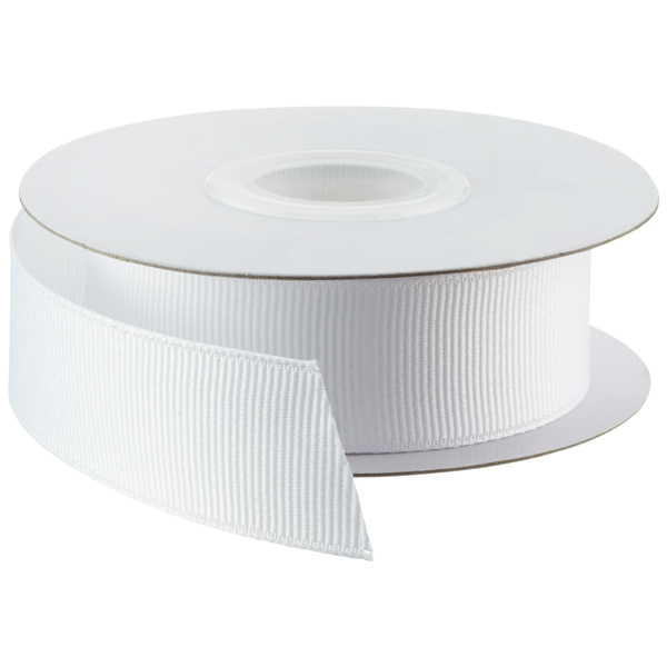 White Grosgrain Ribbon