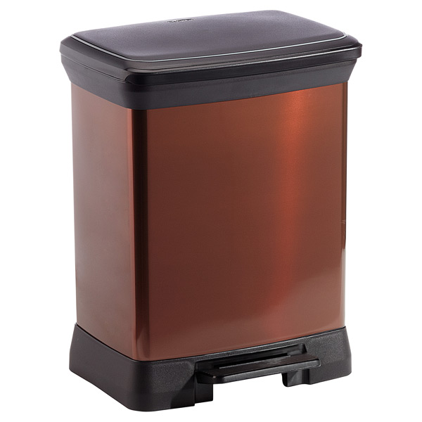 8 gal. Deco Step Can Bronze