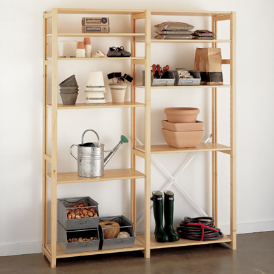 Wooden Shelving Unit