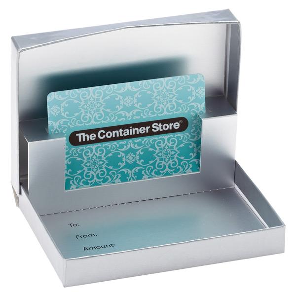 Gift Card Box Matte Silver