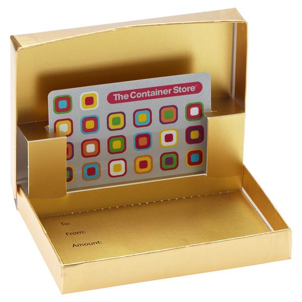 Gift Card Box Matte Gold