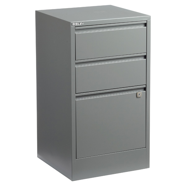 Bisley 3-Drawer File Cabinet Graphite
