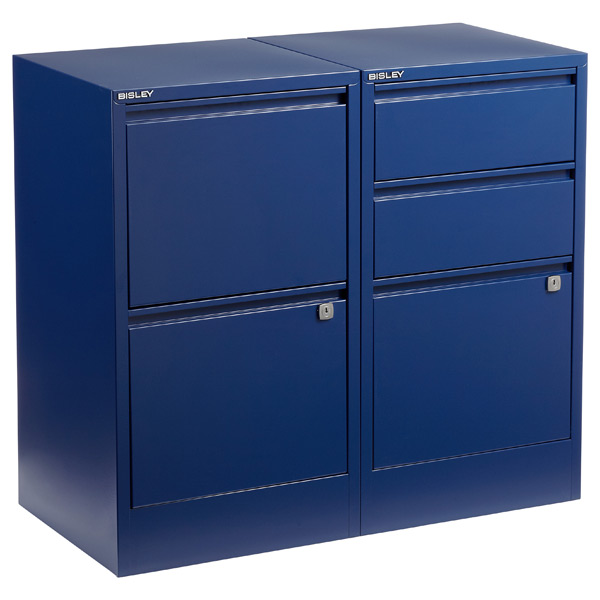 Oxford Blue Bisley® 2- & 3-Drawer File Cabinets