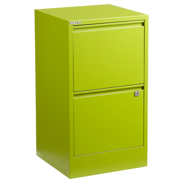 Bisley 2-Drawer File Cabinet Green