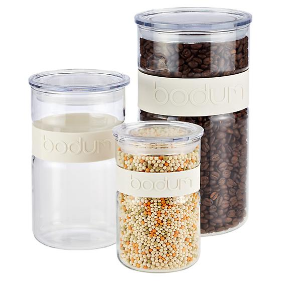 White Band Presso Glass Canisters by Bodum