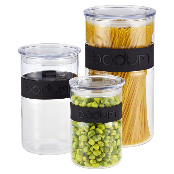 Black Band Presso Glass Canisters by Bodum