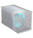 Silver Mesh CD Bin